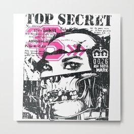 Top Secret Files Metal Print