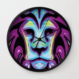 Leon colores pop neon Wall Clock
