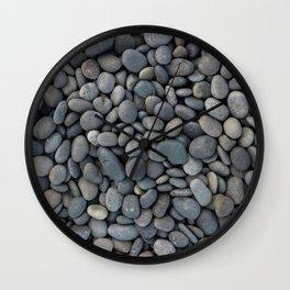Gray River Stone Pebbles River Rock Wall Clock