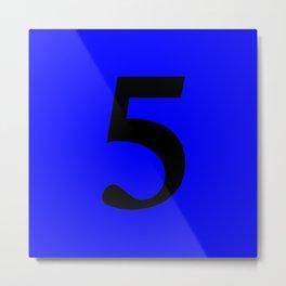 5 (BLACK & BLUE NUMBERS) Metal Print