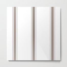 Brown Stripes Metal Print