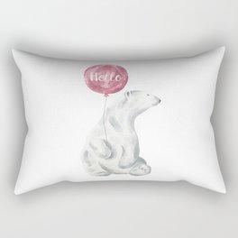 Polar Bear Greetings Rectangular Pillow