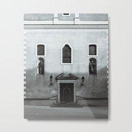 Church at old fortress Osijek, Croatia / Minimal / Lines / B&W Metal Print
