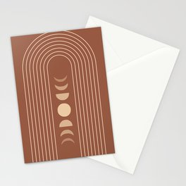Mid Century Modern Geometric 10 (Moon phases) Stationery Cards