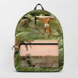 """Classical Masterpiece """"Egyptian Fowlers Clap-net"""" by Herbert Herget. Backpack"""