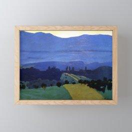 Felix Vallotton -  Landscape in the Jura Mountains (new color editing) Framed Mini Art Print