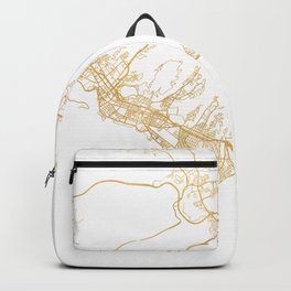 HONOLULU HAWAII CITY STREET MAP ART Backpack