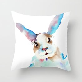 Blue Buns Throw Pillow