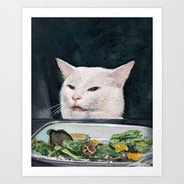 Woman Yelling at Cat Meme-4 Art Print