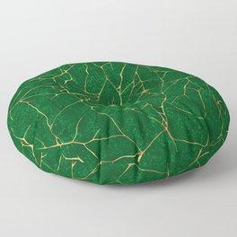 Kintsugi Emerald Green Floor Pillow