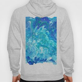 Aqua Ocean Blue Hoody