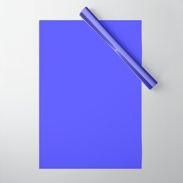 Bright Fluorescent Neon Blue Wrapping Paper