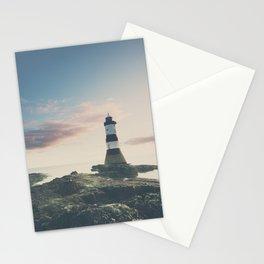 Penrose Lighthouse at sunrise Stationery Cards