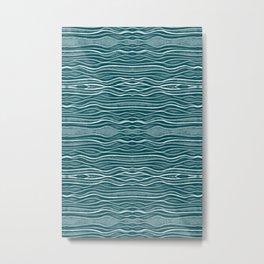 Floating Tides - Soft Teal Metal Print