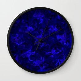 blue blue Wall Clock