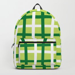 Dark Green and White lines with Light Green base Backpack