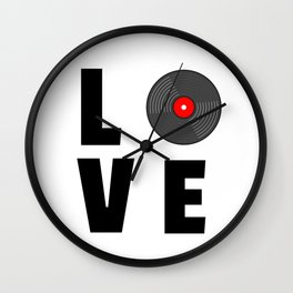 Vinyl Music Wall Clock