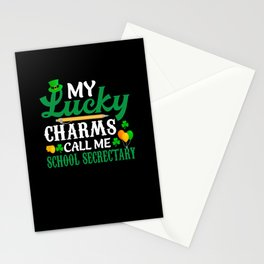 St Patrick's Day Lucky Charm School Secrectary Stationery Cards