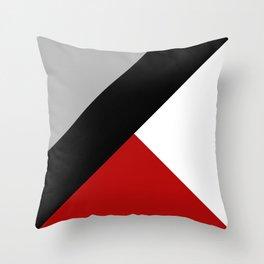 Black diagonal stripe with triangles Throw Pillow