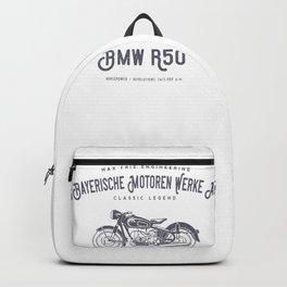 Vintage German Motorcycle T Shirt, 1958 Retro Bikers Model Backpack