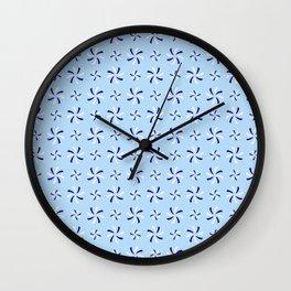 spiral 38- blue Wall Clock
