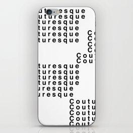 Couturesque Logo - Multi iPhone Skin