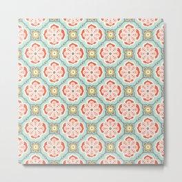Alhambra Tile Metal Print