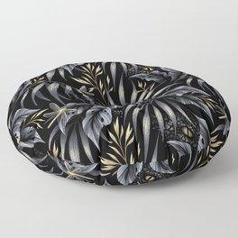 Jurassic Jungle - Grey Gold Floor Pillow