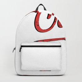 Funny Cringe Nerd Blogger Gift   Backpack
