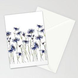 Blue Cornflowers, Illustration Stationery Cards