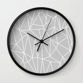 Geometric Cobweb (White & Gray Pattern) Wall Clock