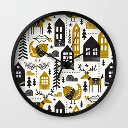 Yultide Nordic Christmas Wall Clock