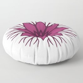Flower Roots Wreath (Purple Pink) Floor Pillow