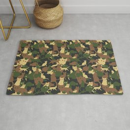 Find a cat (camouflage pattern) Rug