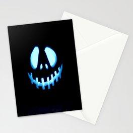 halloween Jack O Lantern Blue Stationery Cards