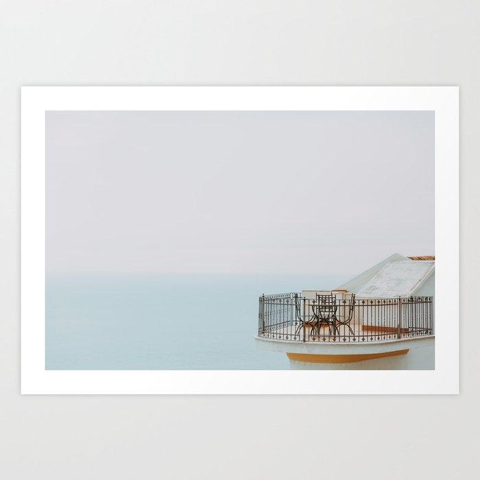 Holiday Dreams Praiano Balcony at the Amalfi Coast Italy Art Print