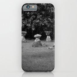 Chamoru Stones of Life - B/W iPhone Case
