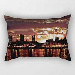 Angry Sunset. Rectangular Pillow