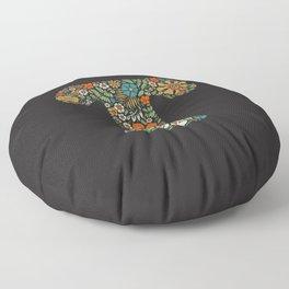 Hippie Floral Letter T Floor Pillow