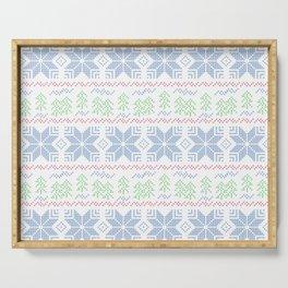 Christmas pattern. Cross-stitch Serving Tray