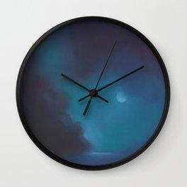 moody moon Wall Clock