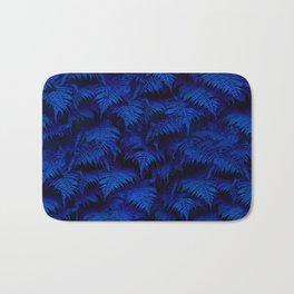 Deep Blue Fern Plant Wall Bath Mat