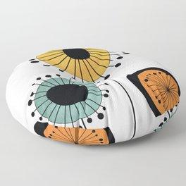 Mid-Century Modern Flowers 1 Floor Pillow