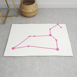 Leo (Pink & White) Rug