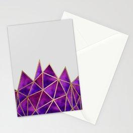 Purple & Gold Geometric Stationery Cards