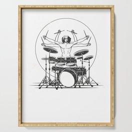 drummer t-shirt cult drummer motif gift Serving Tray