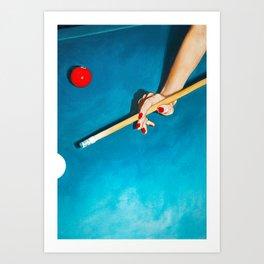 The Pool Table Art Print