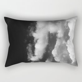 Clouds in black and white Rectangular Pillow