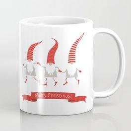 Dancing Nisse Merry Christmas Banner Coffee Mug
