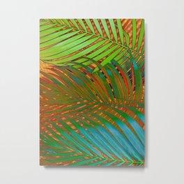 TROPICAL LEAVES POP-ART no4 Metal Print